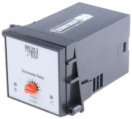 Broyce Control Speed Monitoring Relay with SPDT Contacts, 115 V ac, 230 V ac