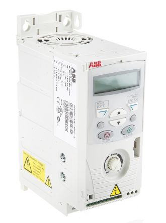 ABB ACS150 Inverter Drive 1.1 kW with EMC Filter, 1-Phase In, 200 → 240 V, 6.7 A, 500Hz Out, IP20