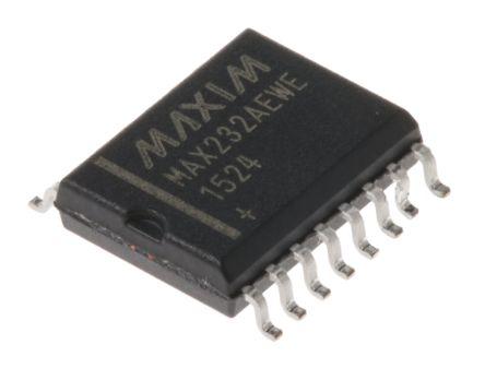 maxim max232aewe  200kbps 线路收发器, eia/tia-232-e/ rs-232/ v.