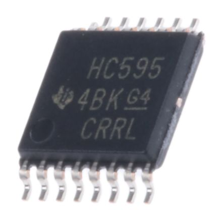 Using a shift register 74HC595N with Arduino Nudatech