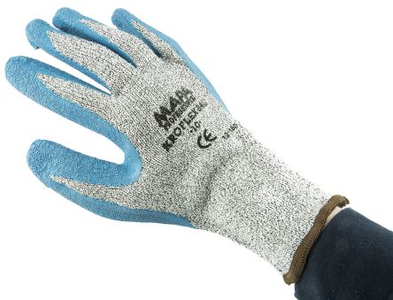 Mapa Kroflex Blue Cut Resistant Latex Latex-Coated Reusable Gloves 10 - L