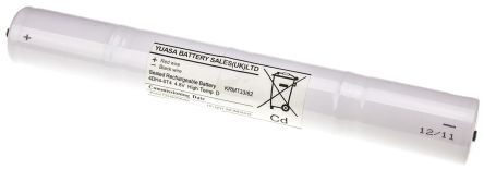 Yuasa 4.8V, 4000mAh NiCd Emergency Lighting Battery Pack