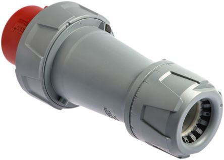 Mennekes PowerTOP Series, IP67 Red Cable Mount 3P+N+E Industrial Power Plug, Rated At 125A, 400 V