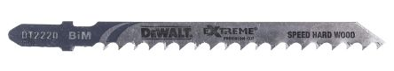 dewalt jigsaw blades. dewalt 100 mm t-shank bimetal jigsaw blade set, 70mm cutting length, 4.2 blades
