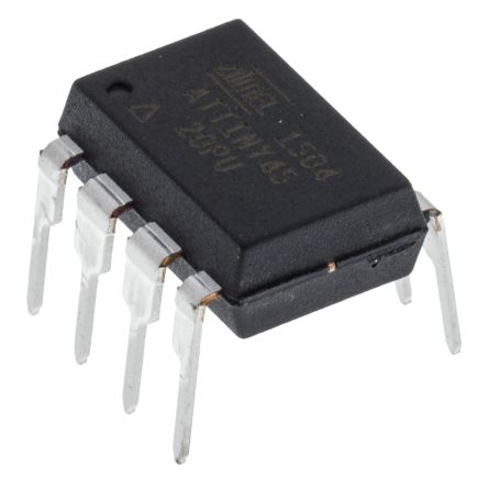 Microchip ATTINY45-20PU, 8bit AVR Microcontroller, 20MHz, 4 kB, 256 B Flash, 8-Pin PDIP