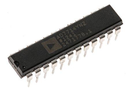 analog devices ad7714ynz 24 位 adc, 差分输入, spi接口, 24引脚