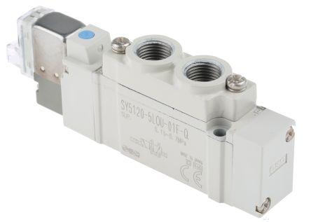 sy5120 5lou 01f q | smc sy5000 g 1/8 5/2 solenoid/pilot