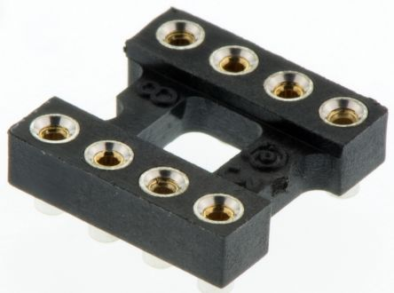 Aries Electronics 2.54mm Pitch Vertical 8 Way SMT Open Frame IC Dip Socket, 3A