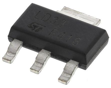 stmicroelectronics ld1117s33tr ldo 稳压器, 3.3 v输出, 1.