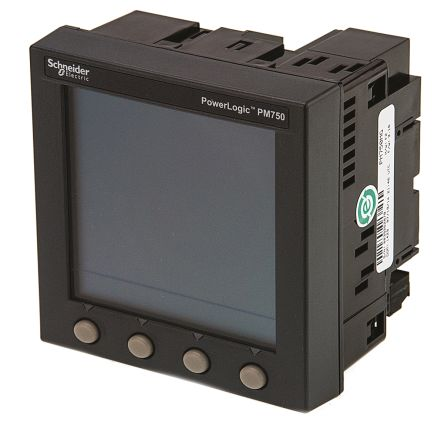 Schneider Electric LCD Digital Power Meter, 92mm x 92mm, 12-Digits, 3 Phase , ±0.5 % Accuracy