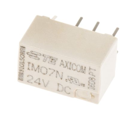 TE Connectivity DPDT PCB Mount Non-Latching Relay, 24V dc Coil 2 A