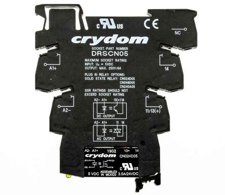Sensata / Crydom 固态继电器, 最大负载电流3.5 A, 最大负载电压24 V 直流, DIN轨安装, 最大控制电压12 V 直流, 零交叉切换