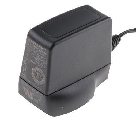 Artesyn Embedded Technologies Plug In Power Supply 12V dc, 1.5A Level V 1 Output, 2.5 x 5.5 mm DC Plug