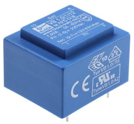 变压器印刷电路板安装,短路保护,vb 和 pt 系列