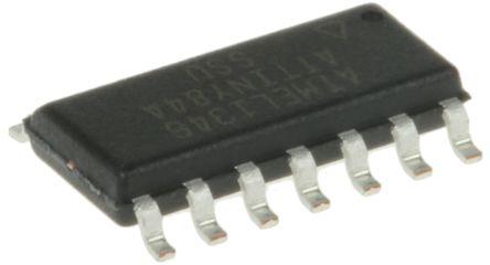 Microchip ATTINY84A-SSU, 8bit AVR Microcontroller, 20MHz, 8 kB Flash, 14-Pin SOIC