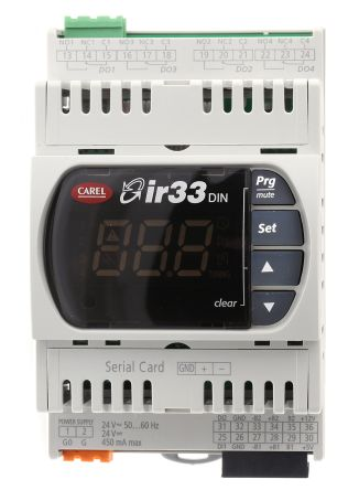 DN33V9MR20 | Carel IR33 PID Temperature Controller, 144 x 70mm, 1 ...
