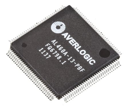 AverLogic AL460A-13-PBF, FIFO Memory, Single 128Mbit, 8M x 16, Uni-Directional 75MHz, 2.5 → 3.3 V, 128-Pin LQFP