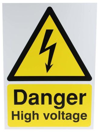 panneau de danger avec pictogramme danger electrique danger high voltage. Black Bedroom Furniture Sets. Home Design Ideas