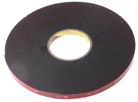 3m black acrylic foam double sided tape 11mm thick 12mm x 33m