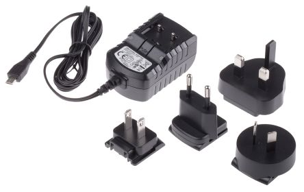 RS Pro Plug In Power Supply 5V, 2A Level V 1 Output, Micro USB Power Adapter