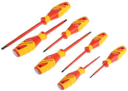 Gedore 7 pieces Phillips, Slotted Screwdriver Set