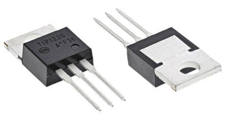 on semiconductor tip122g npn 达林顿晶体管对, 8 a, vce=100 v, hfe