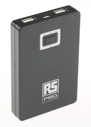 RS Pro PB-A5200 5000mAh Power Bank Portable Charger