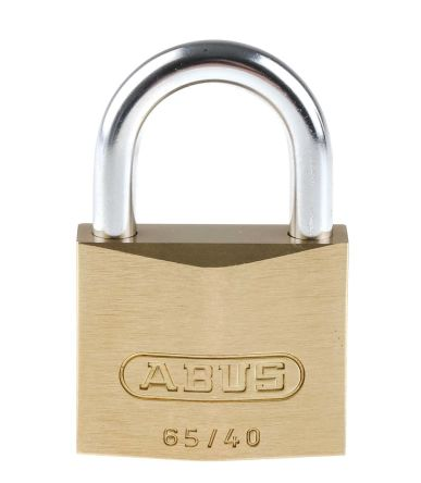 Abus 65mm Brass, Steel Padlock with Key