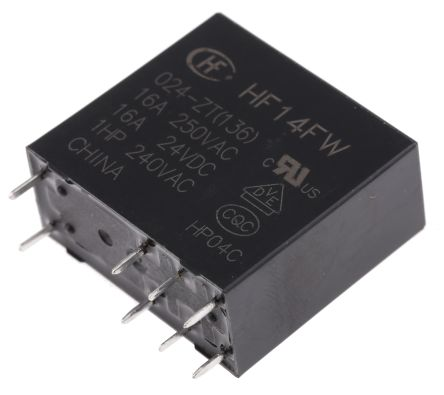 rs pro 单刀双掷 pcb 安装 非闭锁继电器, 24v