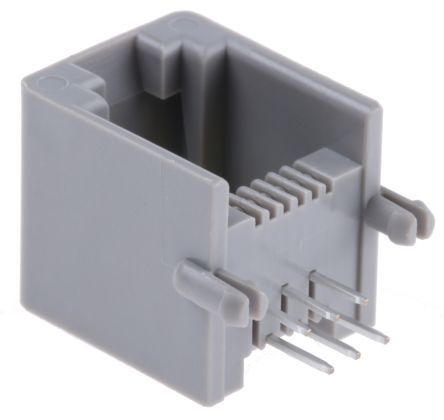 Molex 6P6C Right Angle Through Hole RJ11 Socket