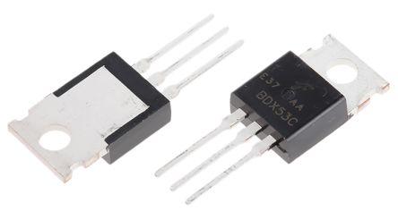 on semiconductor bdx53ctu npn 达林顿晶体管对, 8 a, vce=100 v