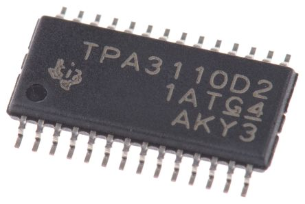 texas instruments tpa3110d2pwp d 类 立体声 音频放大器,  85 °c