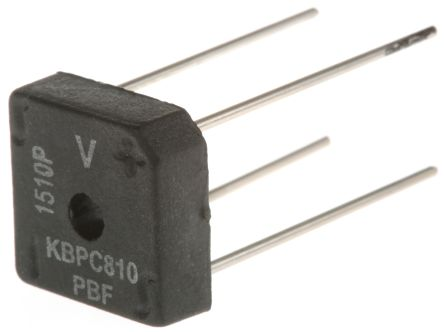 Vishay VS-KBPC810PBF, Bridge Rectifier, 8A 1000V, 4-Pin D 72