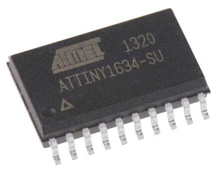 microchip attiny 系列 mcu 8 bit avr attiny1634-su, 12mhz, 16 kb