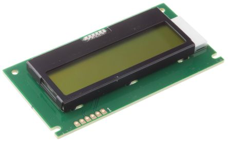 Midas MC21605E6W-SPTLYI Alphanumeric Transflective LCD Monochrome Display Yellow-Green, LED Backlit