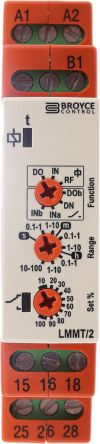 Multi Function Timer Relay, Screw, 0.1 s → 100 h, DPDT, 2 Contacts, DPDT, 12 → 230 V ac/dc