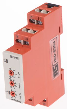 Broyce Control Phase, Voltage Monitoring Relay with SPDT Contacts, 230 V ac