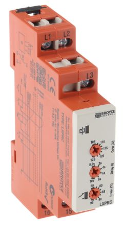 Broyce Control Phase, Voltage Monitoring Relay with SPDT Contacts, 400 V ac