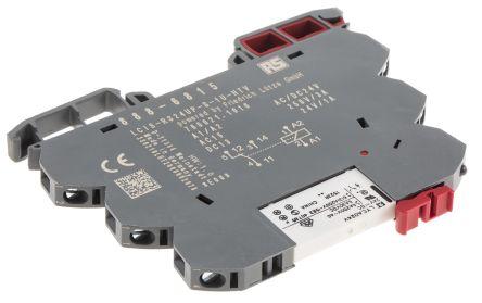 rs pro 单刀双掷 din 导轨 非闭锁继电器, 24v ac/dc, 适用于接口应用