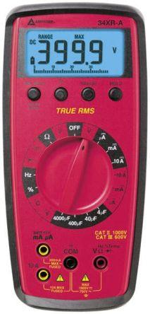 Amprobe 34XRA Handheld Digital Multimeter, 10A ac 750V ac 10A dc 1000V dc
