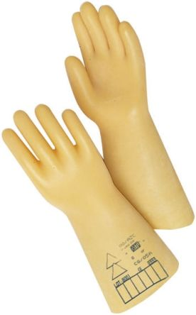 Catu Beige Electrical Safety Latex Reusable Gloves 9 - M