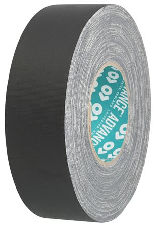 Advance Tapes AT160 Matt Black Cloth Tape, 50m x 50mm x 0.33mm