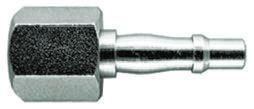 PCL Steel Pneumatic Quick Connect Coupling, Rp 3/8 Female, Threaded