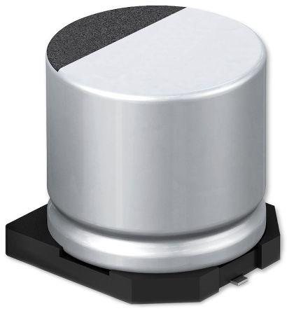 Panasonic Aluminium Electrolytic Capacitor 270μF 16 V dc 6.3mm SMT FKS Series Lifetime 2000h +105°C