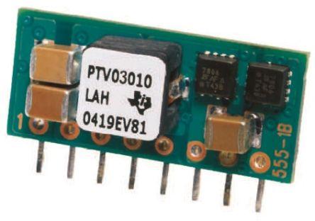 ptv12010lah 直流-直流电源模块, 12 v输入, 8针 sip 模块封装