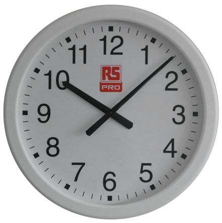 rs pro white wall clock 490mm