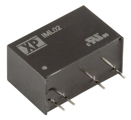 XP Power Through Hole 2W Isolated DC-DC Converter, Vin 4.5 → 5.5 V dc Medical Approved