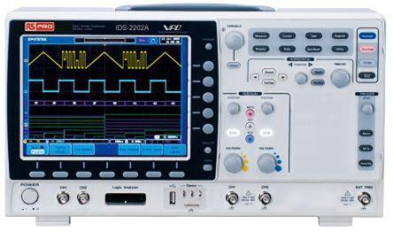 示波器示意�_rs pro ids-2202a, 2 通道 200mhz 数字示波器, 彩色显示