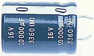 Panasonic Aluminium Electrolytic Capacitor 10000μF 50 V dc 35mm Through Hole HA SNAP IN Series Lifetime 3000h