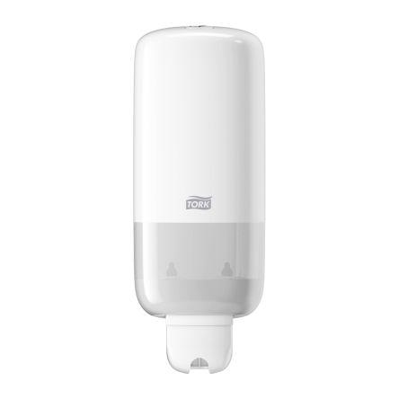 tork white wall mounted soap dispenser